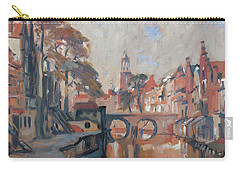 Carry-all Pouch featuring the painting Utrecht Autumn Canal by Nop Briex