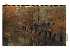 Carry-all Pouch featuring the painting Utrecht In Autumn by Nop Briex