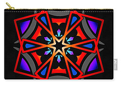 Carry-all Pouch featuring the digital art Utron Star by Derek Gedney