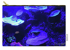 Carry-all Pouch featuring the photograph Uw Neon Coral by Francesca Mackenney