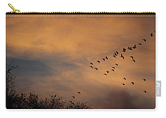 V Formation At Sunset  Carry-all Pouch