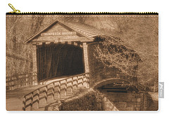 Va Country Roads - Humpback Covered Bridge Over Dunlap Creek No. 18d - Sepia - Alleghany County Carry-all Pouch