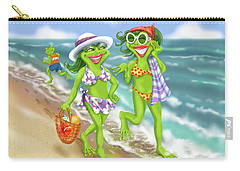 Vacation Beach Frog Girls Carry-all Pouch
