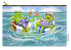 Vacation Happy Frog Couple Carry-all Pouch