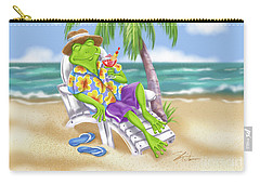 Vacation Relaxing Frog Carry-all Pouch
