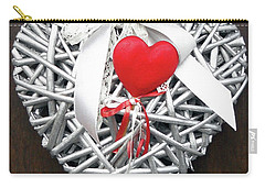 Carry-all Pouch featuring the photograph Valentine Heart by Juergen Weiss