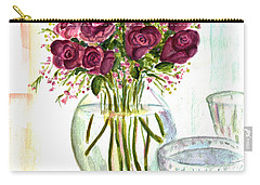 Valentines Crystal Rose Carry-all Pouch