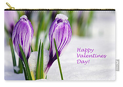 Valentines Day Crocuses Carry-all Pouch