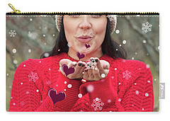 Carry-all Pouch featuring the photograph Valentines Kisses... by Nina Stavlund
