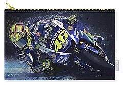 Valentino Rossi Carry-all Pouch by Taylan Apukovska
