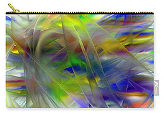 Carry-all Pouch featuring the digital art Veils Of Color 2 by Greg Moores