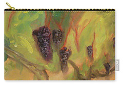 Carry-all Pouch featuring the painting Valhalla Vineyard by Donna Tuten