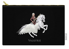 Carry-all Pouch featuring the painting Valkyrie by Valerie Anne Kelly