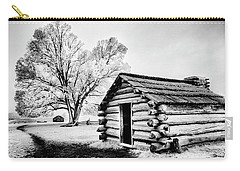 Carry-all Pouch featuring the photograph Valley Forge Winter Troops Hut                           by Paul W Faust - Impressions of Light