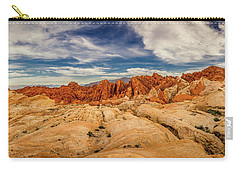 Carry-all Pouch featuring the photograph Valley Of Fire Panorama by Rikk Flohr