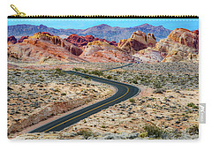 Road Through The Valley Of Fire Carry-all Pouch