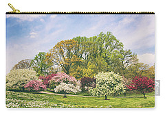 Carry-all Pouch featuring the photograph Valley Of The Daffodils by Jessica Jenney