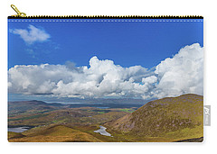 Carry-all Pouch featuring the photograph Valleys And Mountains In County Kerry On A Summer Day by Semmick Photo