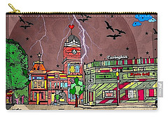 Carry-all Pouch featuring the digital art Vampire/ Covington By Nico Bielow by Nico Bielow