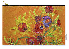 Van Gogh Starry Night Sunflowers Inspired Modern Impressionist Carry-all Pouch