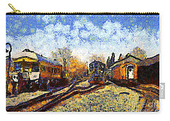Van Gogh.s Train Station 7d11513 Carry-all Pouch