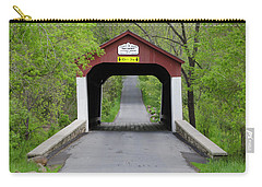 Van Sandt Covered Bridge - Bucks County Pa Carry-all Pouch by Bill Cannon