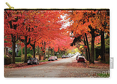 Carry-all Pouch featuring the photograph Vancouver Autumn In The City by Maria Janicki