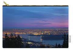 Vancouver Bc Cityscape Lions Gate Bridge Sunset Carry-all Pouch