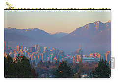 Vancouver Bc Downtown Cityscape At Sunset Panorama Carry-all Pouch