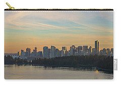 Vancouver Bc Skyline Along Stanley Park At Sunset Carry-all Pouch