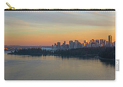 Vancouver Bc Skyline And Stanley Park At Sunset Carry-all Pouch