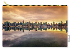 Carry-all Pouch featuring the photograph Vancouver Reflections by Eti Reid