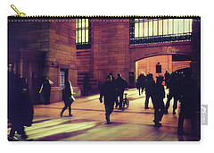 Carry-all Pouch featuring the photograph Grand Central Rush by Jessica Jenney
