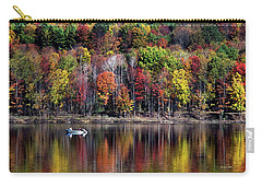 Vanishing Autumn Reflection Landscape Carry-all Pouch by Christina Rollo