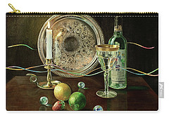 Vanitas Still Life By Candlelight With Les Bourgeois Wine Carry-all Pouch