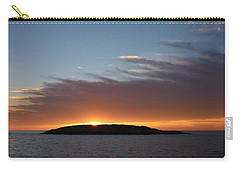 Carry-all Pouch featuring the photograph Variations Of Sunsets At Gulf Of Bothnia 1 by Jouko Lehto