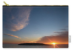 Carry-all Pouch featuring the photograph Variations Of Sunsets At Gulf Of Bothnia 2 by Jouko Lehto