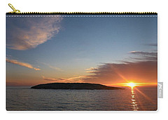 Carry-all Pouch featuring the photograph Variations Of Sunsets At Gulf Of Bothnia 3 by Jouko Lehto