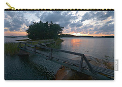 Carry-all Pouch featuring the photograph Variations Of Sunsets At Gulf Of Bothnia 6 by Jouko Lehto
