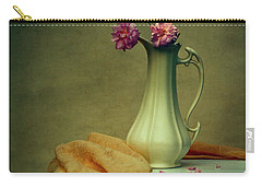 Vase Of Pink Roses Carry-all Pouch