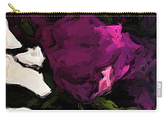Vase Of Roses With Shadows 1 Carry-all Pouch