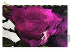 Vase Of Roses With Shadows 2 Carry-all Pouch