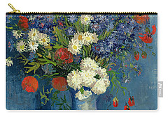 Vase With Cornflowers And Poppies Carry-all Pouch