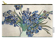 Carry-all Pouch featuring the painting Vase With Irises by Van Gogh