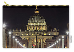 Vatican At Night With Lights  Carry-all Pouch