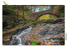 Carry-all Pouch featuring the photograph Vaughan Brook And Arch Bridge by Rick Berk