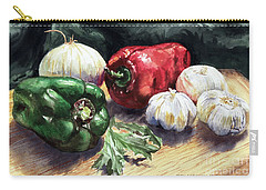 Carry-all Pouch featuring the painting Vegetable Golly Wow by Joey Agbayani