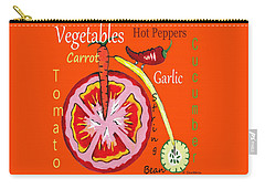 Vegetables - Typography Carry-all Pouch