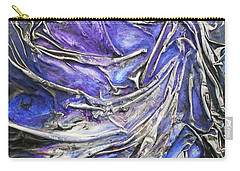 Carry-all Pouch featuring the mixed media Veiled Figure by Angela Stout