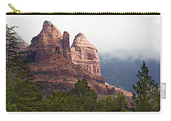 Carry-all Pouch featuring the photograph Veiled In Clouds by Phyllis Denton